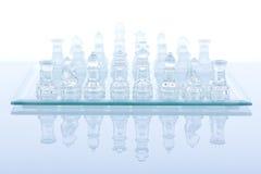 Beautiful glass chess Royalty Free Stock Photos