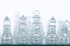 Beautiful glass chess Stock Photos