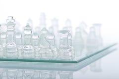 Beautiful glass chess Stock Image