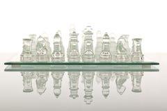 Beautiful glass chess Royalty Free Stock Photography
