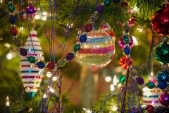 Beautiful glass christmas ornaments Stock Photo