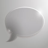 Beautiful, glass cloud for chat or advertising, st Stock Images