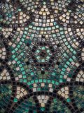 Beautiful glass mosaic table surface. Handmade. Art of sparking painting. Abstract texture stock photo