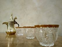 Coffee maker Arabian with cups 3 stock image