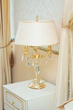Beautiful glass table lamp. White beautiful glass table lamp Stock Illustration
