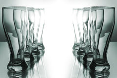 Beautiful glasses. A number of beautiful glasses Royalty Free Stock Photo