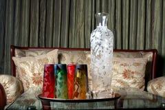 Beautiful Glasses Set Stock Photo