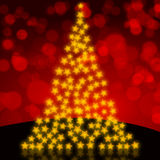 Beautiful glittering Christmas tree Royalty Free Stock Photo