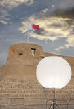 Beautiful glo ball lamp in Arad Fort. Arad Fort is a 15th century fort in Arad, Bahrain Royalty Free Stock Photo