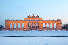 Beautiful Glorietta at Schonbrunn Park at winter Royalty Free Stock Image