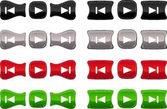 Beautiful glossy buttons. Royalty Free Stock Photography