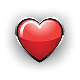 Beautiful glossy heart. On a white background Stock Image
