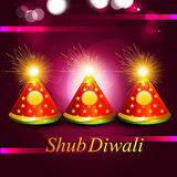 Beautiful glowing celebration diwali crackers festival. Background Royalty Free Stock Photography