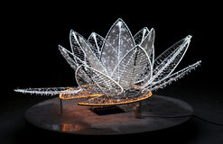 Beautiful glowing flower sculpture Royalty Free Stock Photos
