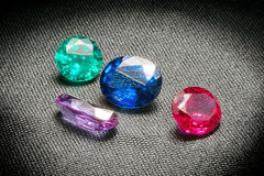 Beautiful glowing gems Royalty Free Stock Image