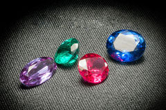Beautiful glowing gems Royalty Free Stock Images