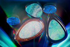 Beautiful glowing gems Royalty Free Stock Photos