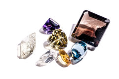 Beautiful glowing gems Stock Images