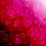 Beautiful glowing romantic background Royalty Free Stock Photos
