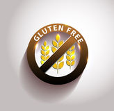 Beautiful gluten free symbol Royalty Free Stock Photos