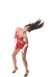 Beautiful go-go girl dancing Stock Images