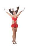 Beautiful go-go girl dancing Stock Photo