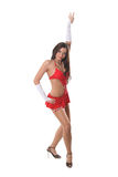 Beautiful go-go girl dancing Royalty Free Stock Photos