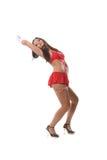 Beautiful go-go girl dancing Stock Photography