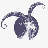 Beautiful goat symbol image. Stock Image