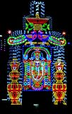 Beautiful god image l e d serial light setting. stock images