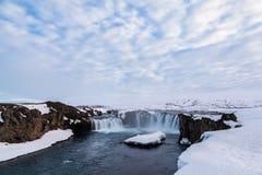 Beautiful Godafoss falls, Iceland Royalty Free Stock Photography