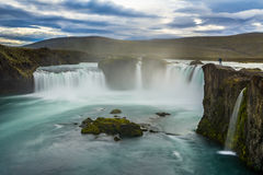 Beautiful Godafoss waterfall in Iceland Royalty Free Stock Images