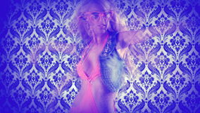 Beautiful gogo dancing Royalty Free Stock Image