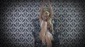 Beautiful gogo dancing stock video
