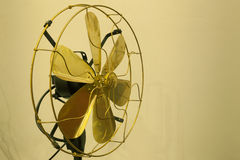Beautiful gold antique brass fan Royalty Free Stock Photo