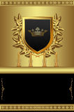 Beautiful gold background with royal elements Stock Photography