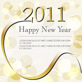 Beautiful gold bokeh New Year's Illustration. Vector beautiful gold bokeh New Year's Illustration Royalty Free Stock Image