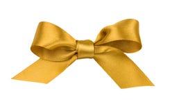 Beautiful gold bow. On white background Stock Photo