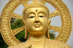Beautiful gold Buddha image. In Thailand Royalty Free Stock Images