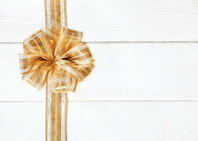Beautiful gold Christmas bow Stock Image