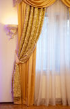 Beautiful gold curtain Stock Photo