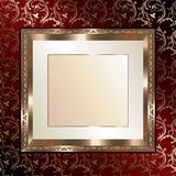 Beautiful gold frame Stock Photography