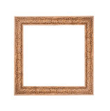 Beautiful gold frame isolated on white background Royalty Free Stock Photo