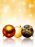 Beautiful gold happy Christmas card. EPS 8 Stock Image