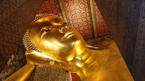 Beautiful Gold Image Buddha Posture Sleep Of Thailand stock video