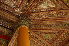Beautiful gold and inlaid ceiling Royalty Free Stock Photo