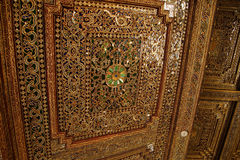 Beautiful gold and inlaid ceiling Royalty Free Stock Photos