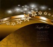 Beautiful gold label  Stock Image