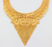Beautiful gold necklace Stock Images