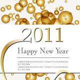 Beautiful gold New Year's Illustration Royalty Free Stock Photography